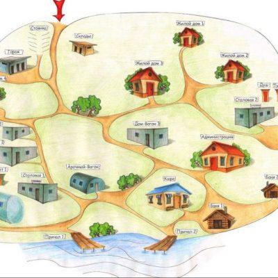План турбазы Ковжа